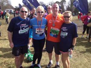 Billy Brannigan with friends after the Great Ireland Run