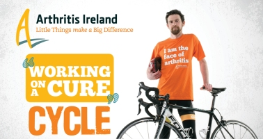 Kenny Bucke, Team RAD will take part in this years Working on a Cure Cycle on June 7th for Arthritis Ireland.